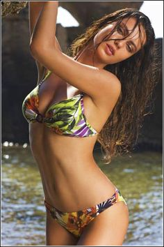 7b2859cb1d Amarea bikini with tropical flower print  bikini Push Up Bikini