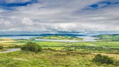 A view over Lough Swilly from Grianan Hill with Inch Island in the centre.