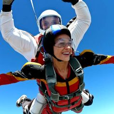 The sensation of free falling through clouds with the atmosphere pressing against you is a feeling and adrenaline rush unlike anything you've ever experienced before Tandem Jump, Wedding Gift List, Honeymoon Fund, Skydiving, Day, Clouds, Travel, Places, Free