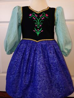 Frozen Inspired Princess Anna  Anna Dress by Theresafeller on Etsy, $50.00