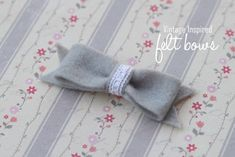 Felt Bow {tutorial} - I Heart Nap Time | I Heart Nap Time - How to Crafts, Tutorials, DIY, Homemaker