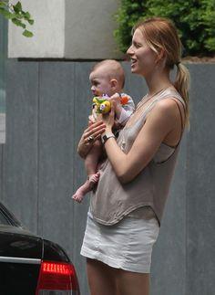 Karolina Kurkova and Baby Tobin
