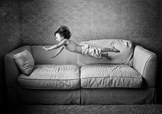 Capturing the joy of having a small body and large bouncy surfaces: great idea.
