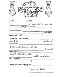 Father's Day Madlibs & crafts