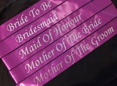 Hens Night/Bachelorette Printed Sash pack by henshq on Etsy, $69.75
