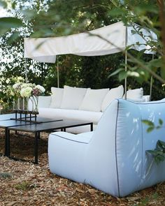 here's no wi-fi in the forest, but we promise you'll find a better connection.⠀ ⠀ U101-03 Oleander Outdoor Sofa with Canopy in Spinnaker Salt ⠀ U147-01SW Lido Outdoor Swivel Chair in Tempotest Donatello 50963 4 Fabric, with Zig Zag Stitching⠀ by @leeindustries   #interiorstyling #lovedesign #homedecor #interiors #njinterior #customdesign #downtownsomerville #somervillenj #inspiration #interiordecor #outdoors #outdoorseating #outdoordesign #outdoorliving