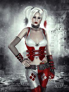 Arkham City Harley Quinnby *FrozenStarRo on deviantart
