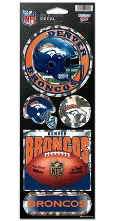 Denver Broncos Stickers Prismatic