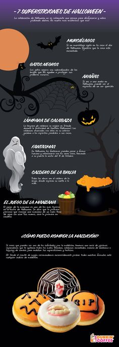 7 supersticiones de Halloween #infografia #infographic