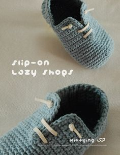 Slip-On TODDLER Lazy Shoes Crochet PATTERN by Kittying.com / mulu.us  This pattern is designed in toddler sizes of 4 to 9.