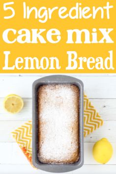 Lemon Bread Recipe Homemade! Easy desserts with few ingredients are great for kids to make! Easy Desserts, Delicious Desserts, Dessert Recipes, Dessert Ideas, Easy Banana Bread, Banana Bread Recipes, 4 Ingredient Desserts, Desserts With Few Ingredients, Tasty Bread Recipe