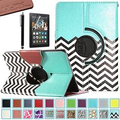 Pandamimi ULAK(TM) 360 Rotating PU Leather Case Cover for Amazon Kindle Fire HDX 7.0 Inch 2013 Gen with Smart Cover Auto Wake/Sleep Feature and Stylus (FOLLOW THE SKY) ULAK http://www.amazon.com/dp/B00IF0X64E/ref=cm_sw_r_pi_dp_NAjFub0QT7J1S