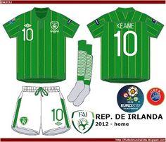 Republic of Ireland home kit for Euro 2012.