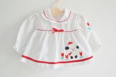 Vintage Baby Blouse 1960s with applique by StellaRaeVintageBaby, $23.00