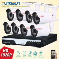 New Super 3MP HD 8 Channel 1920P Surveillance Camera kit Home Metal Bullet Outdoor Security Camera 8CH DVR CCTV System Kit