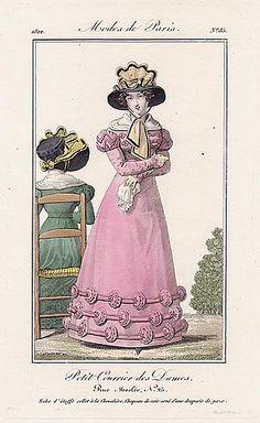 Petit Courrier des Dames 1822 Modes de Paris N°85