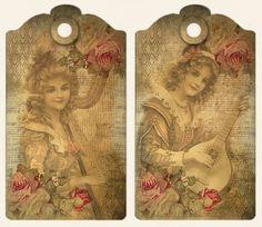 JanetK.Design Free digital vintage stuff: Labels