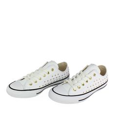 eefc0a68064 Converse chuck taylor all star leather stud ox - λευκο
