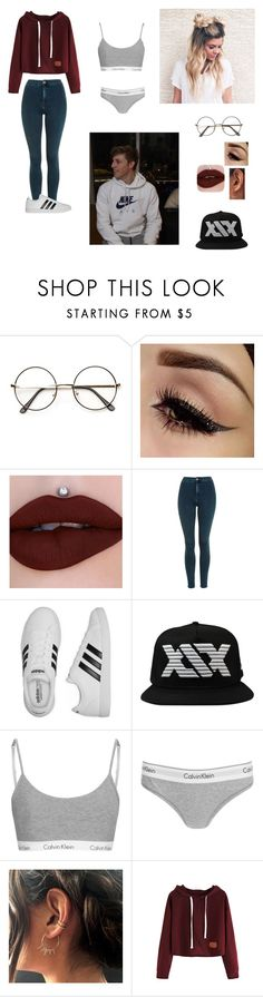 """""""Q&A with Harry"""" by sidemenarecoolio ❤ liked on Polyvore featuring Topshop, adidas and Calvin Klein"""