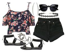 """""""799."""" by adc421 ❤ liked on Polyvore featuring Levi's, Parisian, Lacoste, Shaun Leane, Gisele Ganne and Miss Selfridge"""