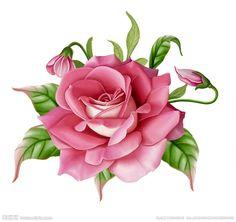 点击查看大预览图 Art Floral, Flower Crafts, Flower Art, Paper Art, Paper Crafts, Decoupage Vintage, Botanical Flowers, Flower Images, Rose Design