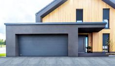 Sheriff Design added a new photo. Flat Roof House, Facade House, Home Exterior Makeover, Exterior Remodel, Bungalow House Design, Modern House Design, Garage Design, Exterior Design, Building Design