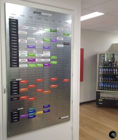 Fitness Planner #Magnetic #dryerase #group #timetable