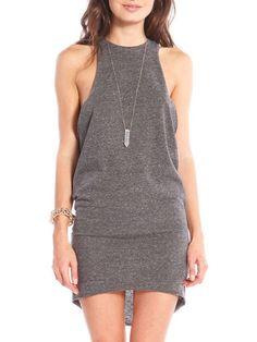 Grey Sleeveless High Low Dress