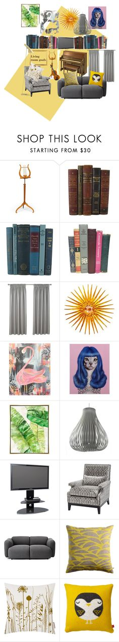 """""""Living room goals"""" by custardapple ❤ liked on Polyvore featuring interior, interiors, interior design, home, home decor, interior decorating, Yamaha, BLVD Supply, C. Jeré and Empire Art Direct"""
