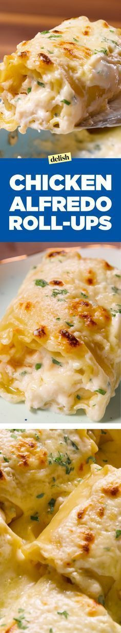 These chicken alfredo roll-ups will make you see lasagna noodles in a whole new light. Get the recipe on Delish.com.