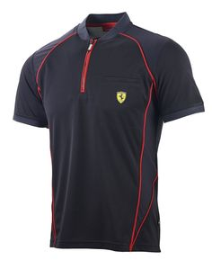 Koszulka Polo Ferrari Performance Tee - Black CZARNY | FERRARI MEN \ POLO | Fbutik | Scuderia Ferrari Collection