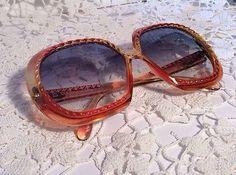 Vintage Retro Christian Dior Amber Yellow 70s Optyl 2060 Ladies Big Sunglasses | eBay