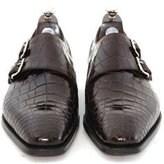 Alligator Double Monk Shoes by Gaziano & Girling GT