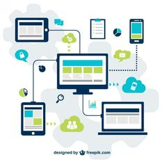 Technology for social media vector