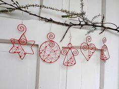 Meryema / červené vianoce z drôtu... sada