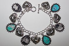 BREAKFAST AT TIFFANY'S Audrey Hepburn Holly Golightly charm bracelet