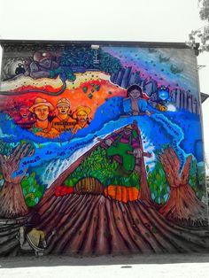 Street Art Museo a Cielo Abierto in Chile, Santiago, San Miguel 10