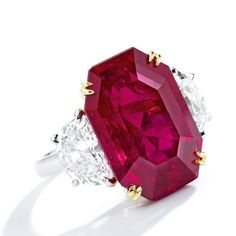 """Red alert ♥️: This 15.01-carat ruby and diamond ring is going under the hammer at @sothebys…"""