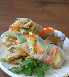 luv the concept...need to play around with ingridients...the peanut sauce is OFF THE HOOK!!! Spring Roll with Peanut Sauce