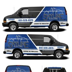 Create a cool simple eye catching fleet of vehicles for an electrical contractor by kiky rizki