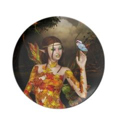 Autumnal Fae Dinner Plate #zazzle #plate