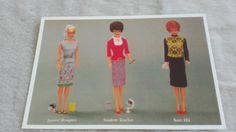 Barbie 1965 postcard   Nostalgic barbie  by Edvintagecollectible