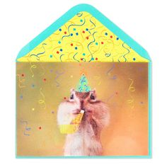Party Squirrel Birthday Card