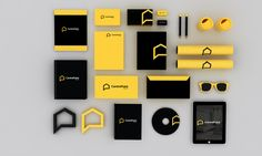 CentrePoint Homes Branding by Jekin Gala, via Behance Coffee Shop Branding, Logo Branding, Business Logo, Business Design, Identity Design, Brand Identity, Visual Identity, Id Design, Menu Design