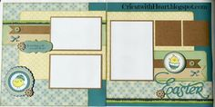 Cricut with Heart: Easter layout with CTMH Chantilly