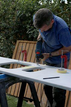 DIYing Minerva Acrylic Worktops