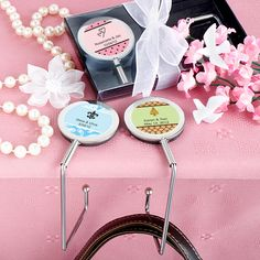 Personalized Expressions Collection Purse Hooks - Nice Price Favors