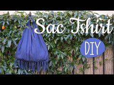 DIY - Comment faire un Sac avec un T-Shirt et une paire de ciseaux - YouTube