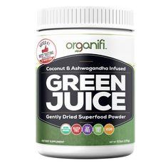 Organifi Gently Dried Superfood Greens Powder. Now you can get all your healthy superfoods in one glass...with No Shopping, No Blending, No Juicing, and No Clea