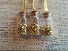 Set of 3 button 'the gold collection'  inspired by maxollieandme